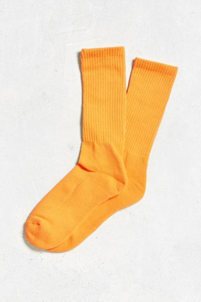 Solid Sport Sock - Gold One Size at Urban Outfitters