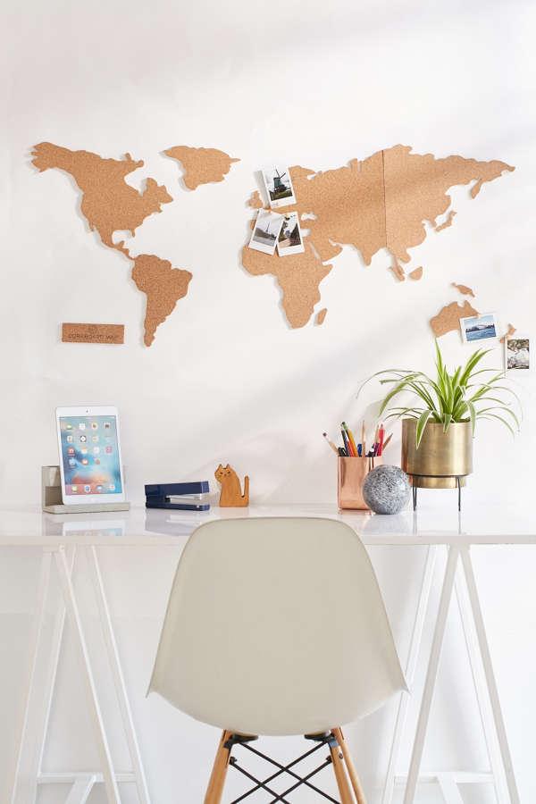 Cork Board World Map
