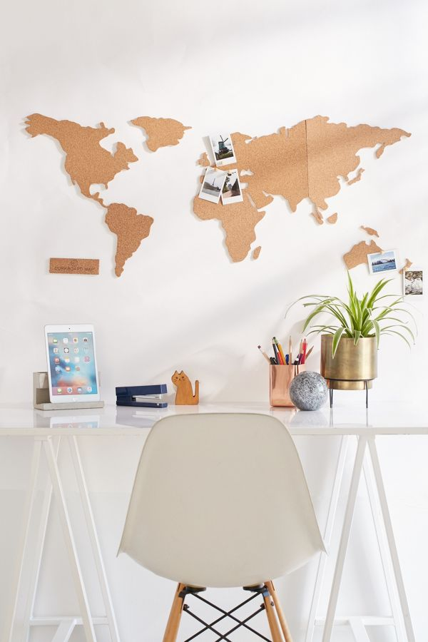 Cork board world map urban outfitters cork board world map gumiabroncs Choice Image