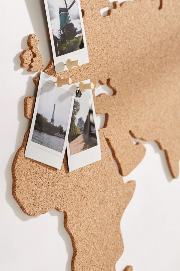 Cork Board World Map Urban Outfitters