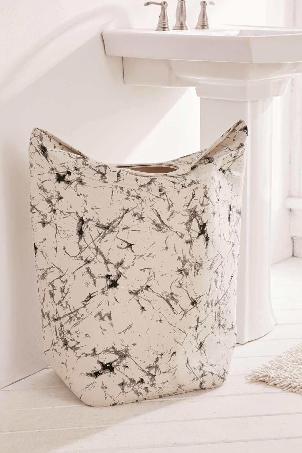 Slide View: 1: Batik Crackle Standing Laundry Bag Hamper