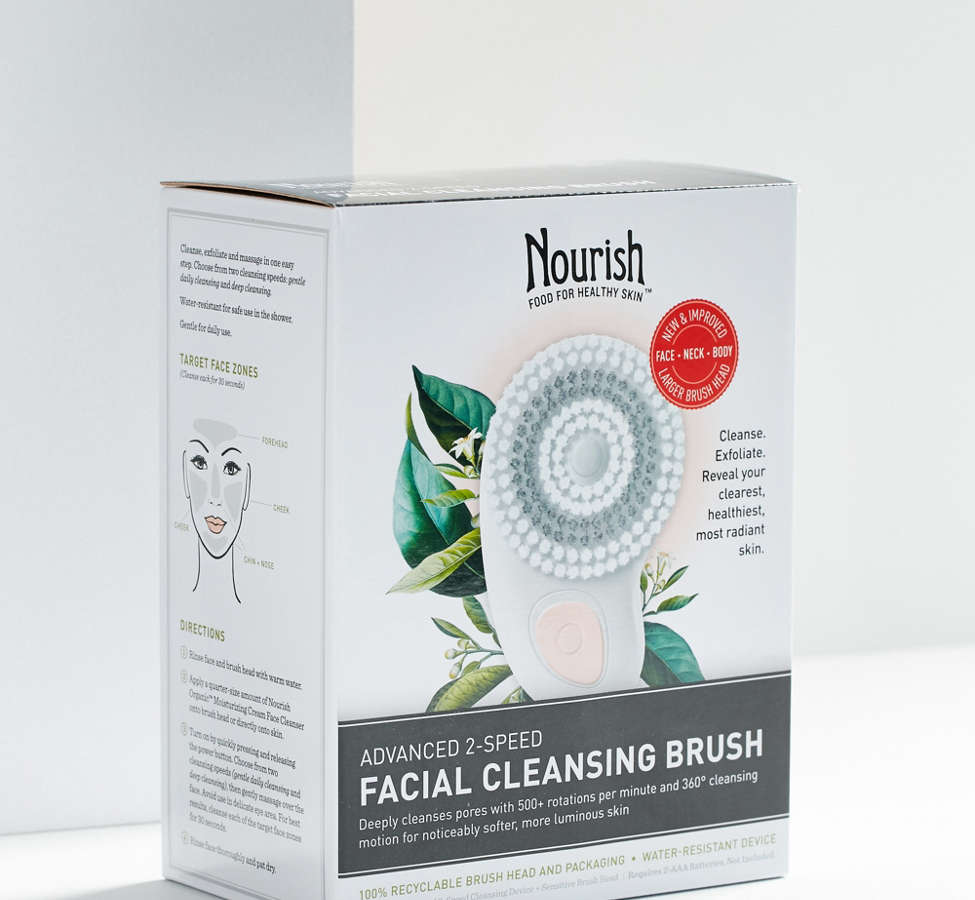 Slide View: 1: Nourish Organic Advanced Facial Cleansing Brush