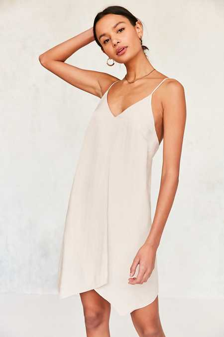 Six Crisp Days Tie-Back Slip Dress