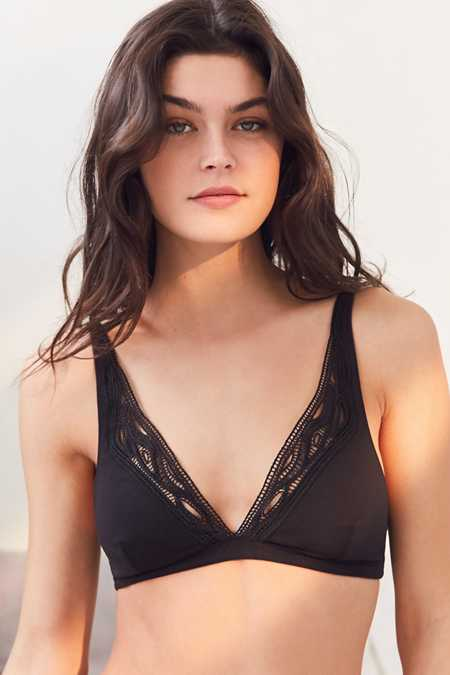 Out From Under Ashley Lace Trim Triangle Bra