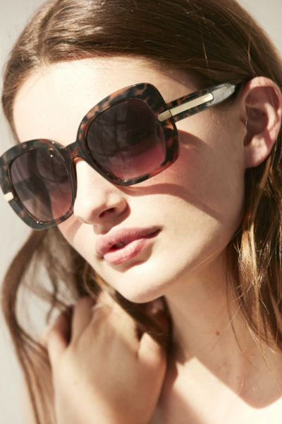 Bohemian Square Sunglasses - Brown One Size at Urban Outfitters