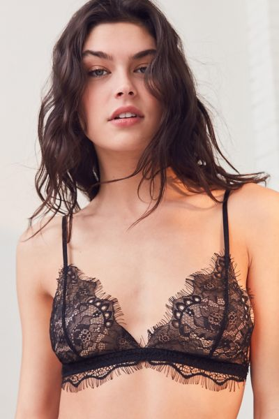 Out From Under Annette Lace Triangle Bra - Black S at Urban Outfitters
