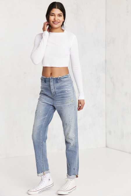 BDG Mom Jean - Raw Edge Waist