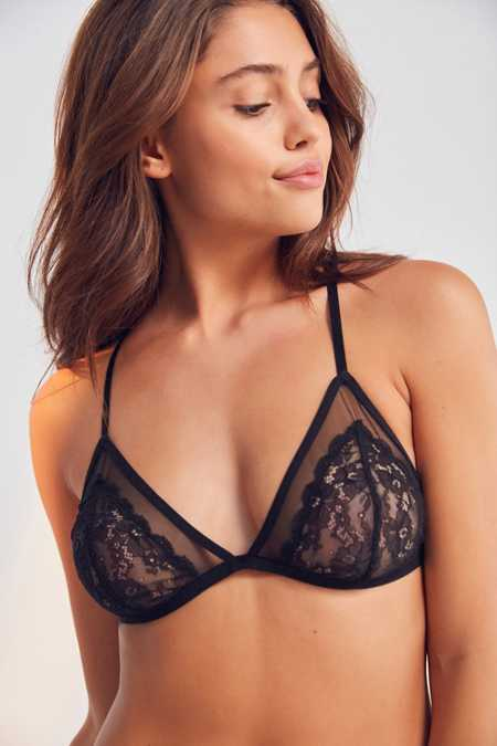 Out From Under Alexia Mesh Lace Triangle Bra