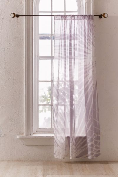 Batik Palm Print Window Curtain - Lilac 84