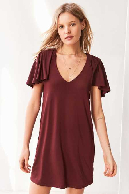 Silence + Noise Whitney Strong Shoulder Dress