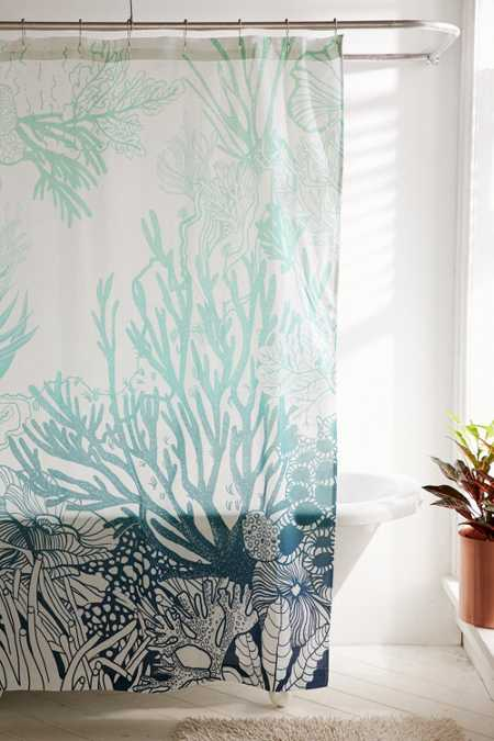 Ombre Coral Reef Shower Curtain