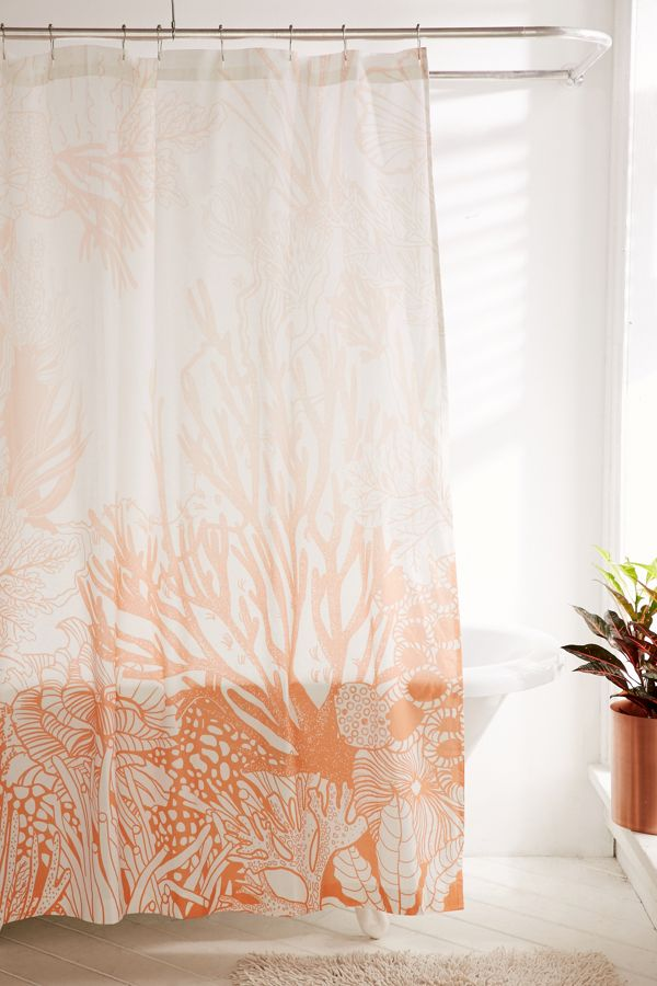 Slide View 1 Ombre Coral Reef Shower Curtain
