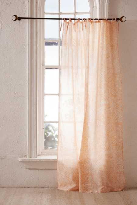 Watercolor Marks Window Curtain