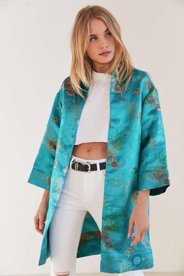 Slide View: 1: Kimchi Blue Silvina Kimono Jacket