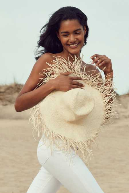 Playa Fringed Brim Floppy Hat