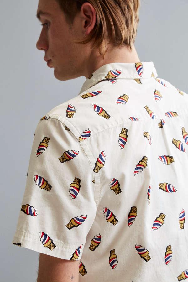 Uo ice cream cone short sleeve button down shirt urban for Best short sleeve button down shirts reddit