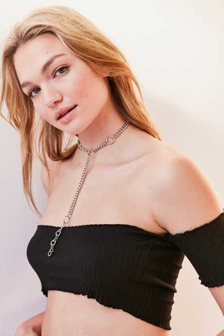 Statement Loop Lariat Necklace