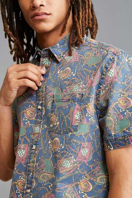 UO Jacob Equestrian Short Sleeve Button-Down Shirt