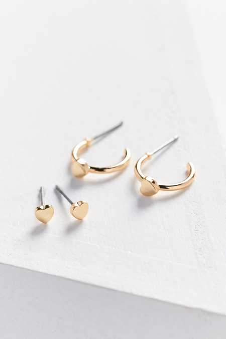Icon Post + Hoop Earring Set