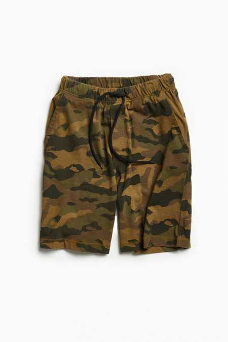 UO Washed Camo Baggy Knit Short
