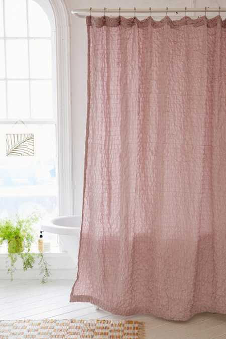 Popcorn Voile Shower Curtain