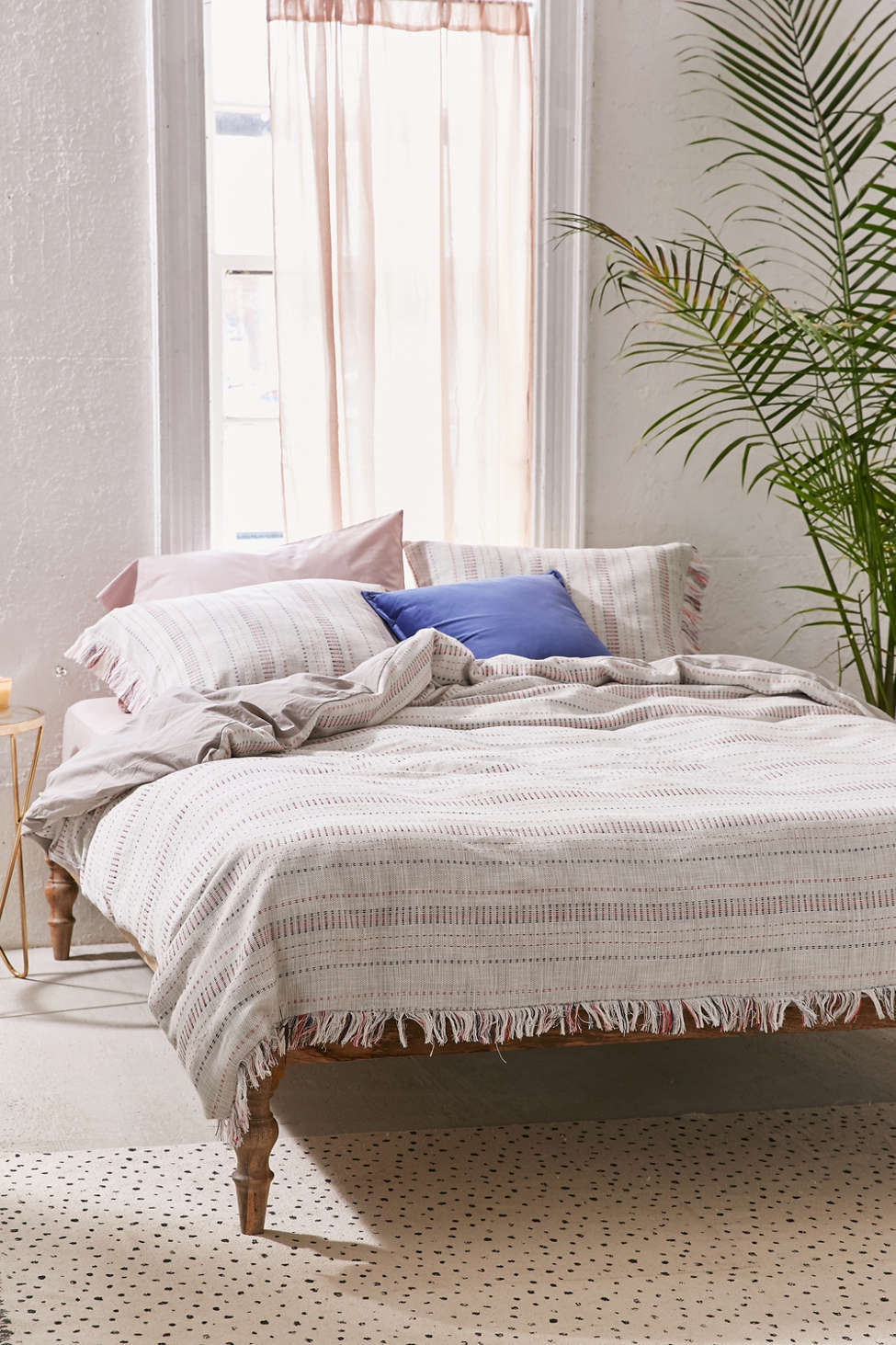Slide View: 3: Stripe The Dot Duvet Cover