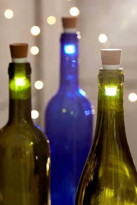 LED Light-Up Cork Bottle Stopper