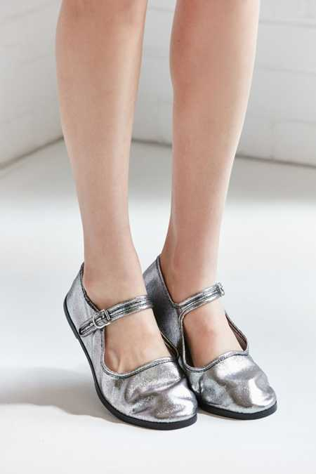 Metallic Mary Jane Flat