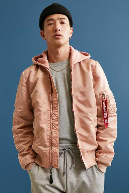 Alpha Industries X UO Monochromatic Hooded L-2B Bomber Jacket