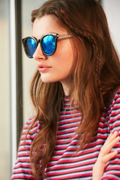 Eternity Round Sunglasses - Black One Size at Urban Outfitters