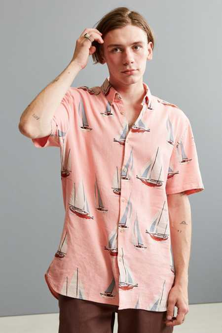 Barney Cools Yacht Club Short Sleeve Button-Down Shirt