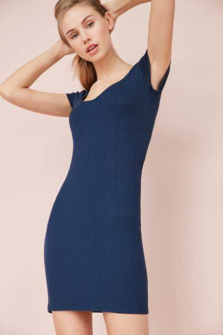 Kimchi Blue Sweetheart Ribbed Bodycon Mini Dress
