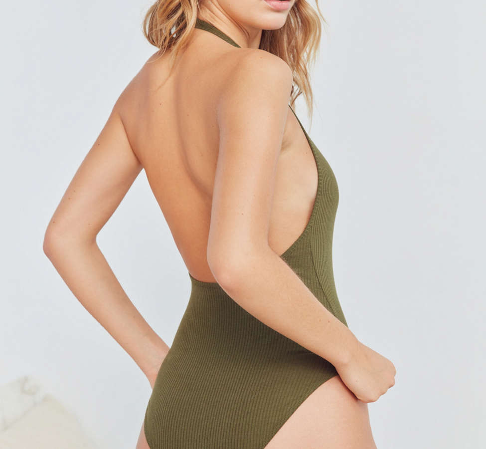 Slide View: 3: Out From Under Brooke Halter Bodysuit