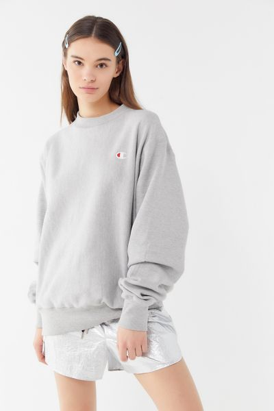Champion Reverse Weave Pullover Sweatshirt - Grey XS at Urban Outfitters