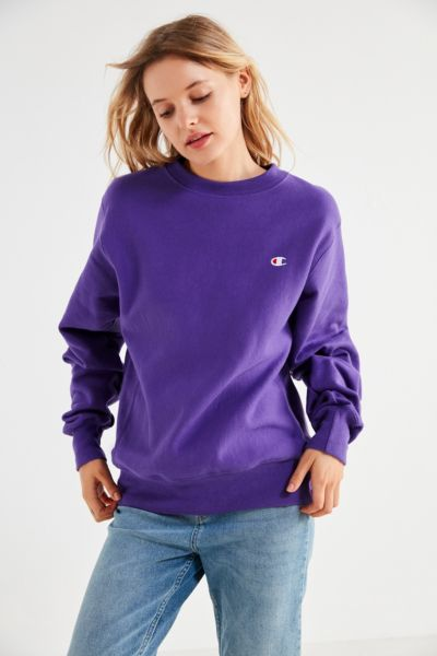 Champion Reverse Weave Pullover Sweatshirt - Purple XS at Urban Outfitters