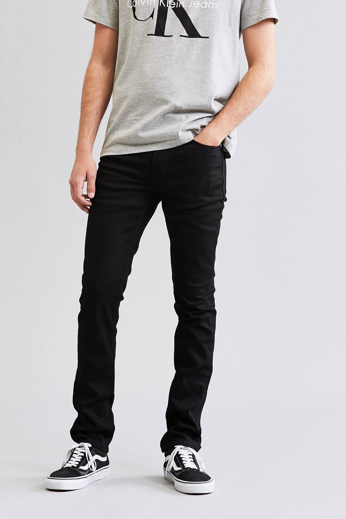 Calvin Klein Black Stretch Skinny Jean | Urban Outfitters