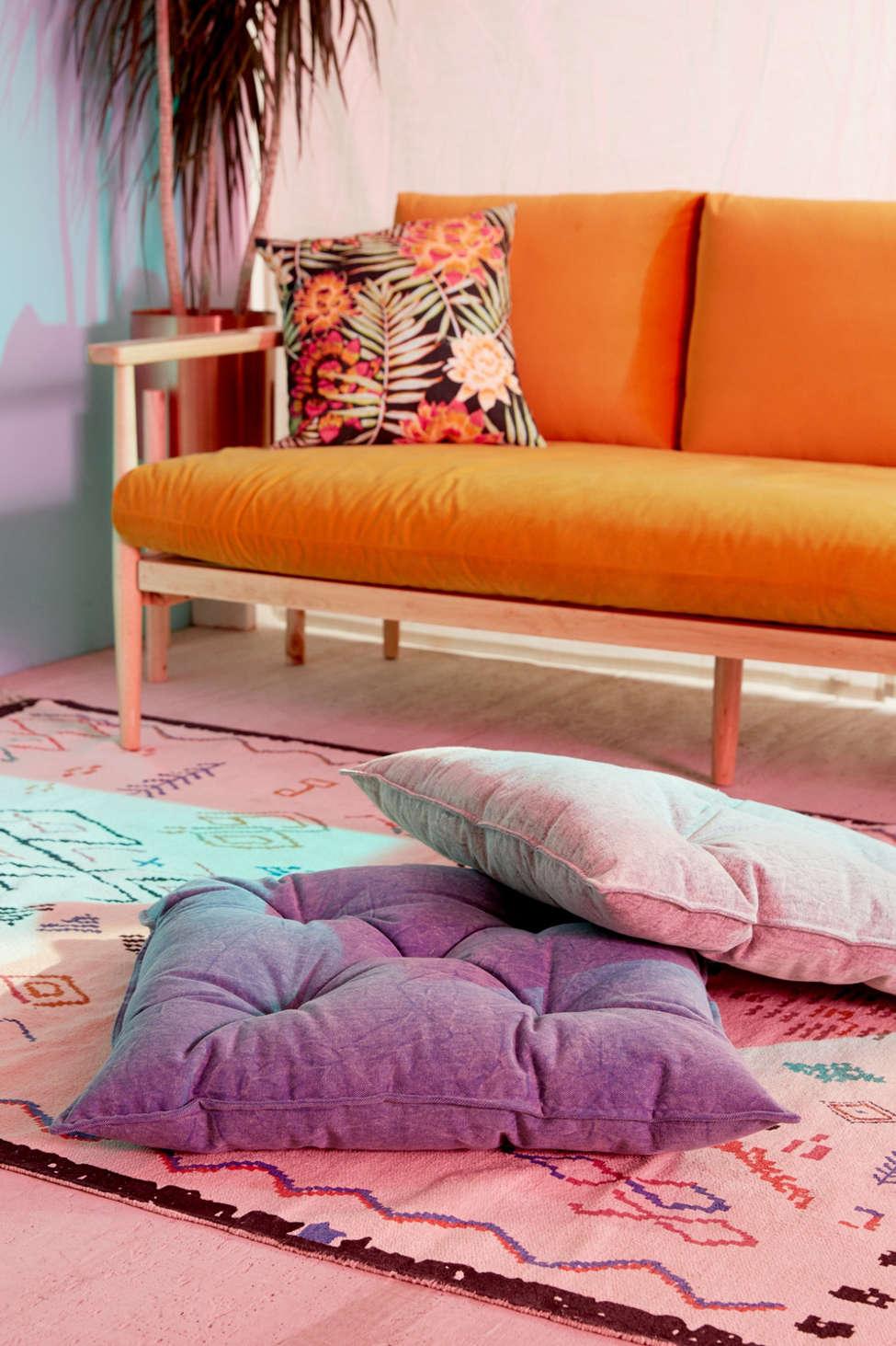 Slide View: 3: Denim Floor Pillow