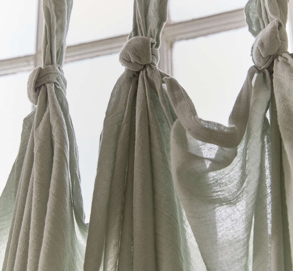Slide View: 4: Knotted Window Curtain