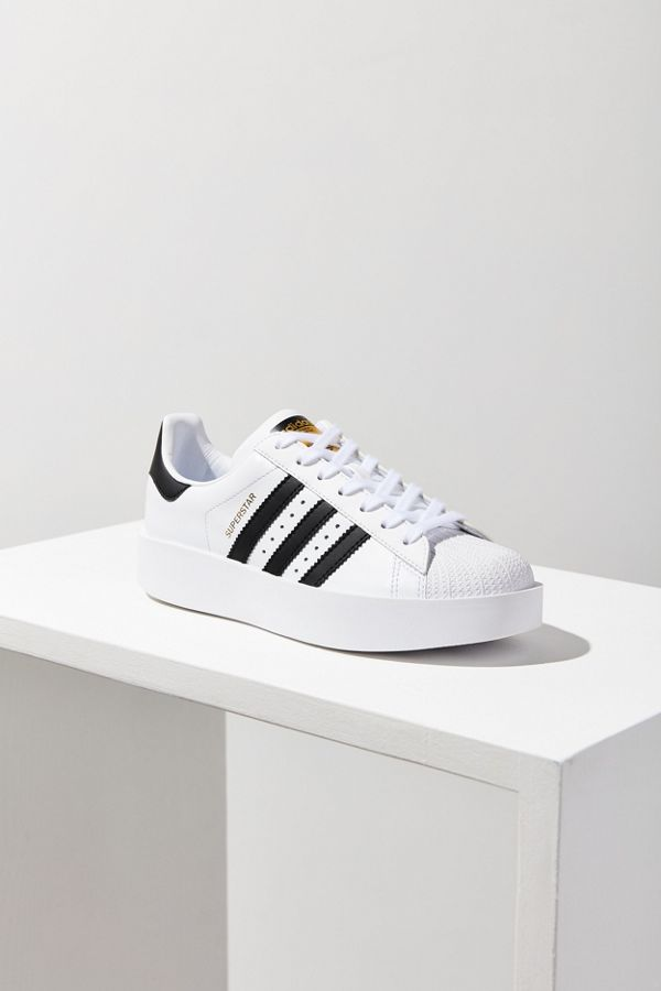 Sneakers en cuir à grosse plateforme Superstar adidas Originals