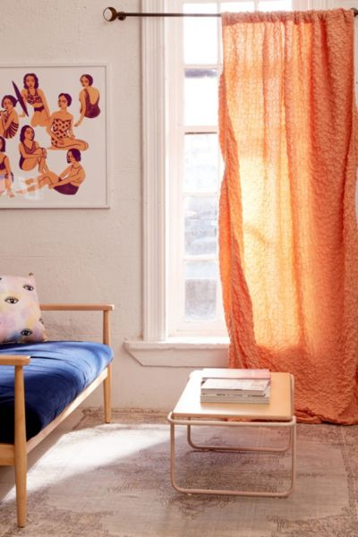 Zamora Voile Window Curtain - Peach 84