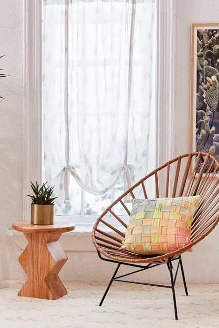 Cactus Draped Shade Curtain