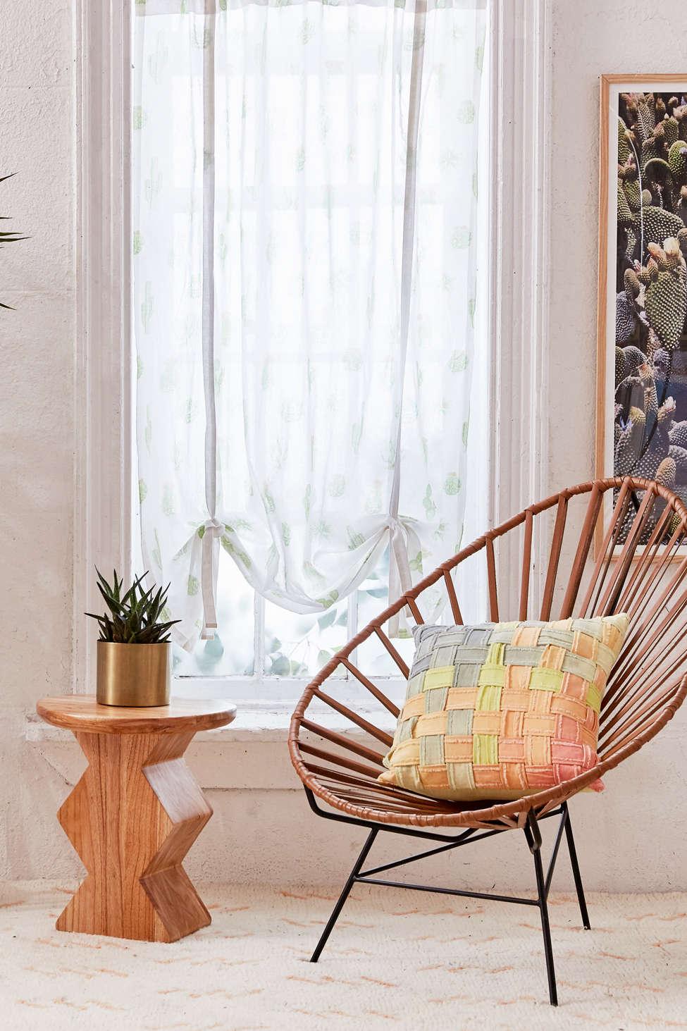 Slide View: 1: Cactus Draped Shade Curtain
