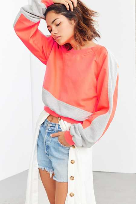 Without Walls Catie Color Block Crew-Neck Sweatshirt