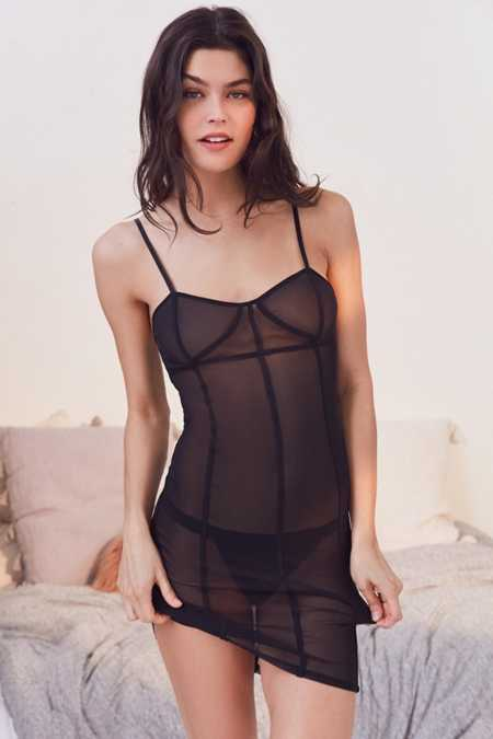 Out From Under Katy Sheer Corset Slip