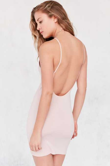 Silence + Noise Crepe Knit Backless Dress