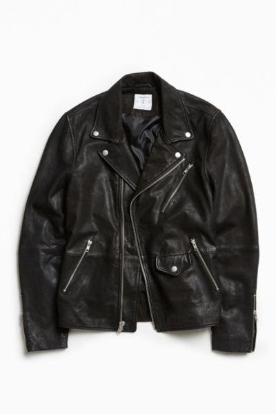 UO Beatdown Leather Moto Jacket