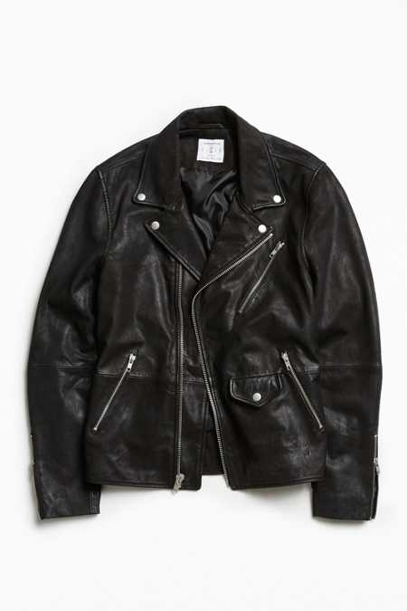 UO Beatdown Leather Moto Jacket