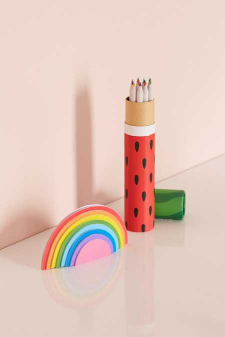 Mustard Gifts Fruit-Scented Pencil Set