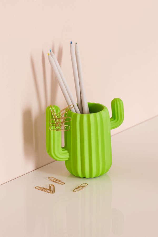 Mustard Gifts Cactus Cup Desk Organizer