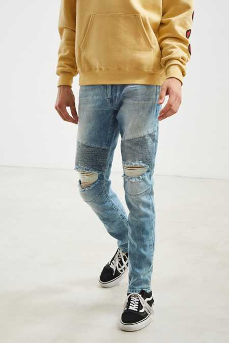 BDG Destructed Skinny Moto Jean